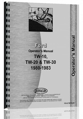 Ford Tw 10 Tw 20 Tractor Operators Manual Fo-o-tw10 20