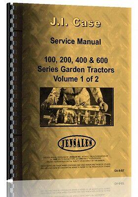 Case 100 200 400 600 Series Lawn Garden Tractor Service Manual Ca-s-gt