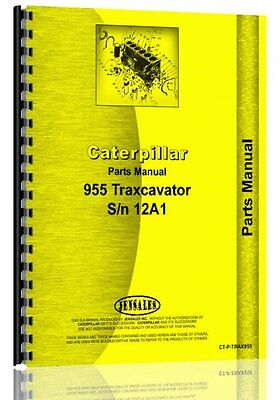 Caterpillar 955 Traxcavator Parts Manual Sn 12a1-12a8418
