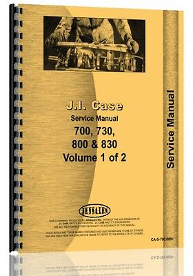 Case 700 800 Series Tractor Service Manual Ca-s-700 800
