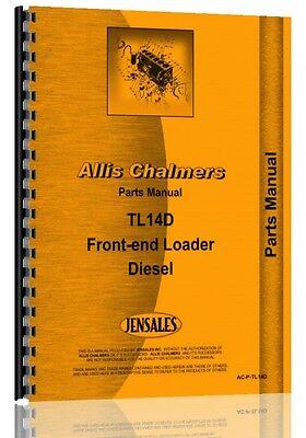 Allis Chalmers Tl-14d Diesel Wheel Loader Parts Manual