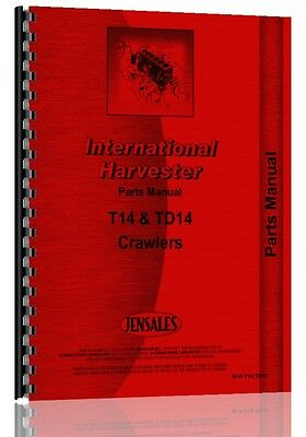 International Harvester Crawler Parts Manual Ih-p-t14 Td14