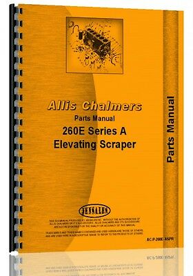 Allis Chalmers 260 Scraper Parts Manual