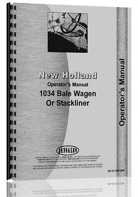 New Holland 1034 Bale Wagon Operators Manual Nh-o-1034 Bw
