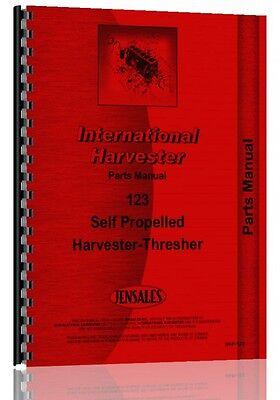 International Harvester 123 Combine Parts Manual