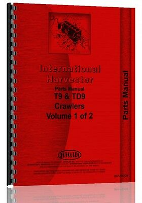 International Crawler Parts Manual T9 Crawler Td9 Crawler