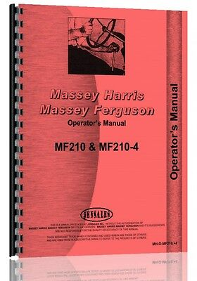 Massey Ferguson Tractor Operators Manual 210 Tractor 210-4 Tractor