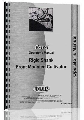 Ford Dearborn Ridged Shank Cultivator Operators Manual