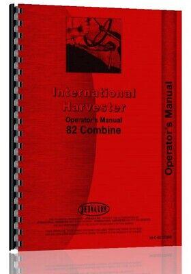 Operators Manual International Harvester 82 Pull Type Combine