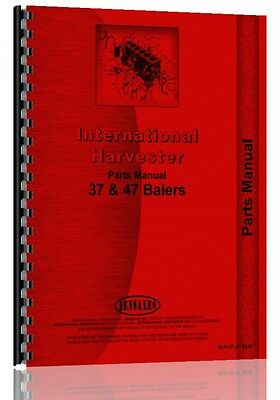 International Harvester Baler Parts Manual 37 Baler 47 Baler