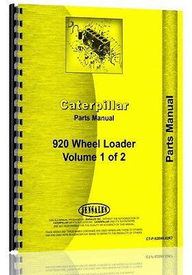 Caterpillar 920 Wheel Loader Parts Manual Sn 62k7095