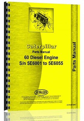 Caterpillar 60 Crawler Parts Manual Sn 5e6001-5e6055