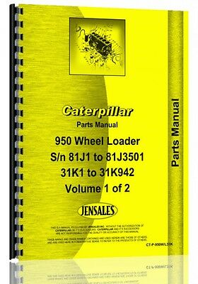 Caterpillar 950 Wheel Loader Parts Manual Sn 31k1-31k942