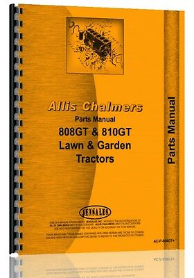 Allis Chalmers 808 810 811 Lawn Garden Tractor Parts Manual Ac-p-808gt