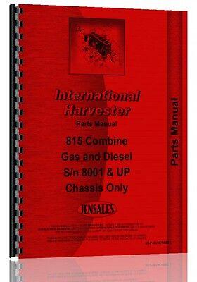 International Harvester 815 Combine Parts Manual