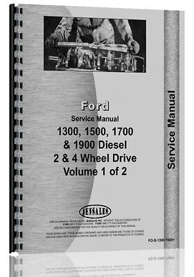Ford 1300 1500 1700 1900 Tractor Service Manual Fo-s-13001500