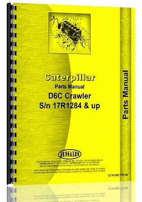 Caterpillar D6c Crawler Parts Manual  S N 17R1284