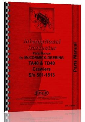 International Harvester Crawler Parts Manual Ih-p-ta40erly