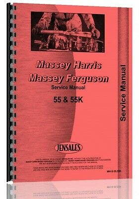 Massey Harris 55 55k Tractor Service Manual 55 Tractor 55k Tractor