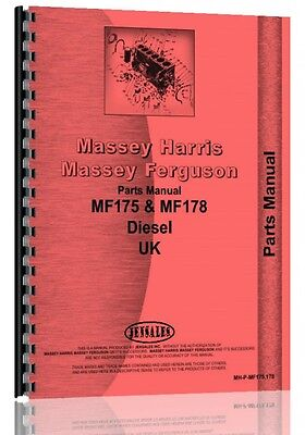 Massey Ferguson 175 178 Uk Version Tractor Parts Manual Mh-p-mf175 178