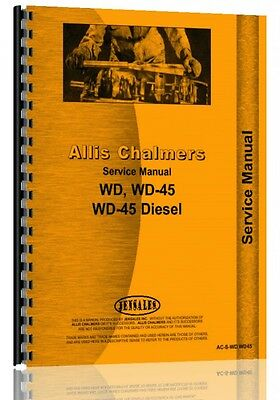 Allis Chalmers Wd Wd45 Gas Diesel Tractor Service Manual Ac-s-wdwd45