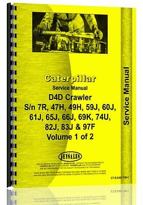 Caterpillar D4d Crawler Service Manual Ct-s-d4d 7r