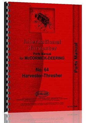 International Harvester Combine Parts Manual Ih-p-64 Comb