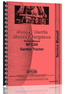 Massey Ferguson 1200 Lawn Garden Tractor Service Manual