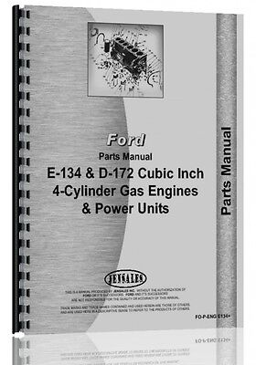 Ford 134 172 Engine Parts Manual Fo-p-eng E134