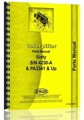 Caterpillar 60 Crawler Parts Manual Ct-p-60 4230a Sn 4230a