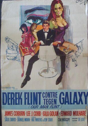 OUR MAN FLINT Belgian movie poster JAMES COBURN RAY (Raymond Elseviers) Art RARE