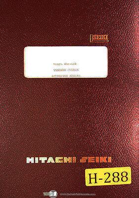 Hitachi Seiki 4nf-600 Cnc Turning Center Opeartions Wfanuc 6t-b Manual 1981