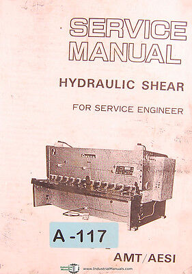Amada H Amtaesi Hydraulic Shear Service Engineer Manual Year 1983