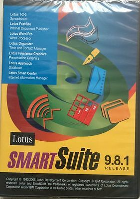 New Lotus 123 Smartsuite 9 8 1 Organizer Approach Word Pro For Windows Xp 7 8 10