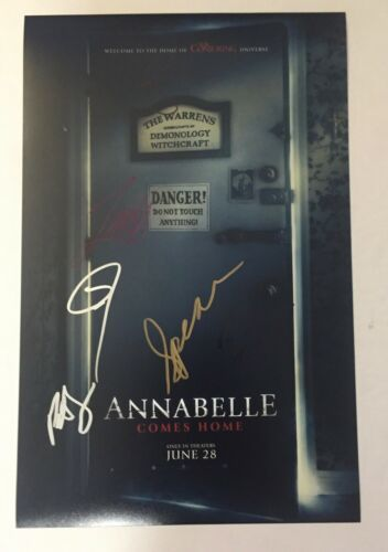 Annabelle Comes Home Cast Signed 11X17 Photo Patrick Wilson James Wan x6 COA