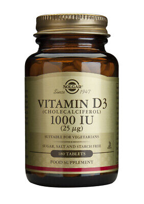 Solgar Vitamin D3 1000IU (25 ug) 180 Tablets
