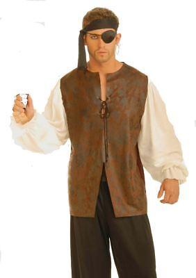 Piraten Hemd Seeräuber Renaissance Weste BLUSE Halloween Erwachsene ()