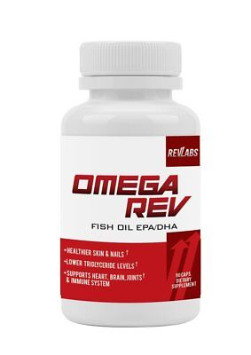 Dha 90 Caps (OMEGA REV Omega 3 Fish Oil EPA DHA 1000 mg for Joints Heart by RevLabs 90 CAPS )