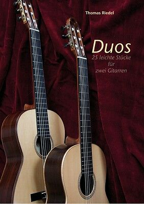 Duos - 25 leichte Stücke für zwei Konzertgitarren - NEU+OVP - Notenbuch Gitarre