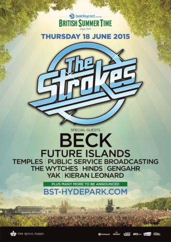 STROKES / BECK LONDON,UK 2015 CONCERT TOUR POSTER-Indie Rock,Garage Rock Revival