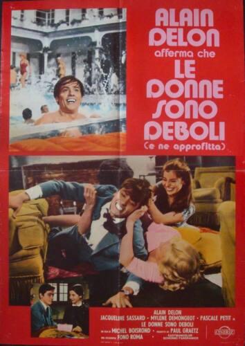 3 MURDERESSES FAIBLES FEMMES Italian 1F movie poster ALAIN DELON DEMONGEOT R1973