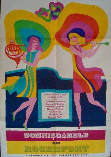 DEMOISELLES DE ROCHEFORT YOUNG GIRLS OF Romanian movie poster DENEUVE DORLEAC