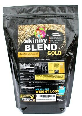 Best Tasting Weight Loss Shake, Skinny Blend Gold Salted Caramel, 30 Shakes