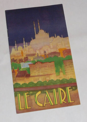 Vintage Le Caire / Cairo, Saide. Egyptian International Airlines Travel Brochure