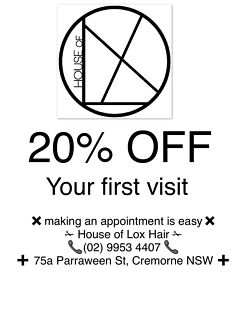 20% OFF ALL HAIR SERVICES