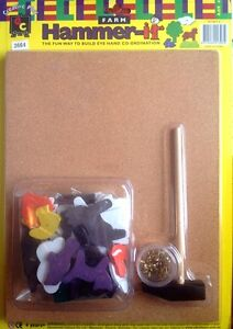 Kids Hammer It Tap Tap Kit - Geometric shapes with Tacks, Board and Hammer