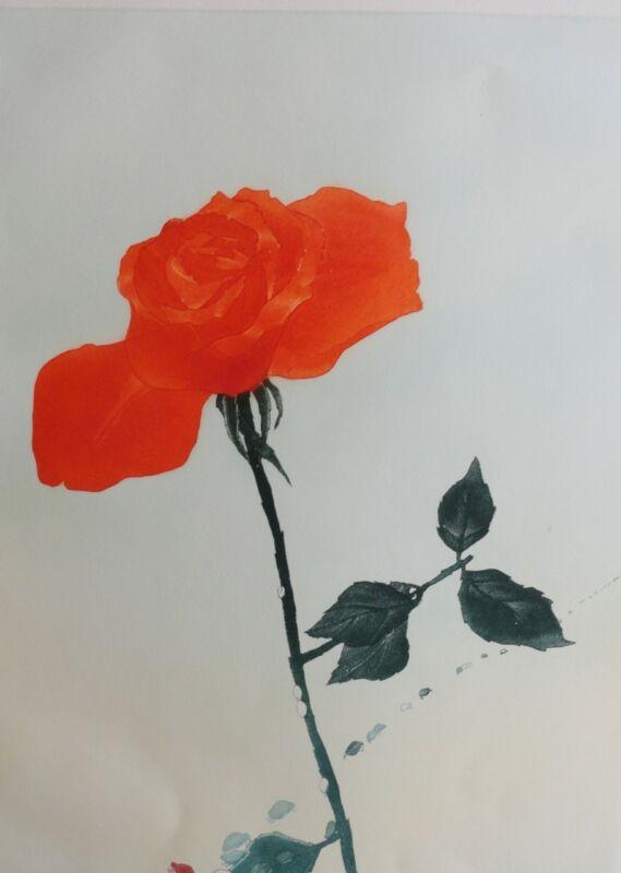 "Charlotte Reine "" Rose "" Original Etching Art"