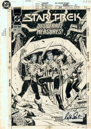 William Shatner Signed Star Trek #54 Original Cover Art ~ Guardian of Forever