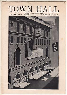 Sophia Steffan  Mezzo-Soprano   Town Hall  (NY)  1959  Program  (Playbill)