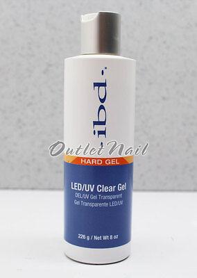 Gel Nail Overlay (IBD LED UV CLEAR 8 oz/ 226g 8oz UV Gel Natural Nail Overlays & Pedicure 65614 )